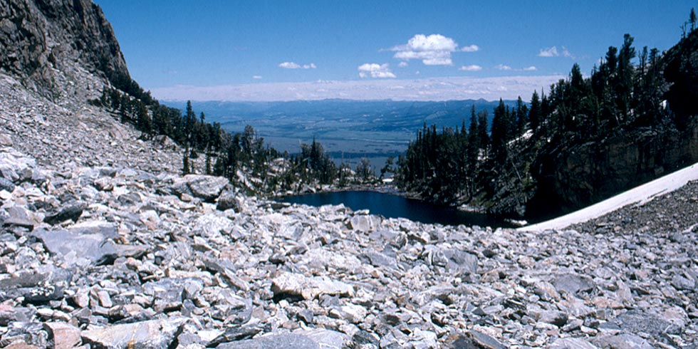 Talus slopes are common habitats for pikas and yellowbellied marmots in the Teton Range.