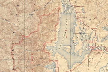 Map of Jackson Hole.