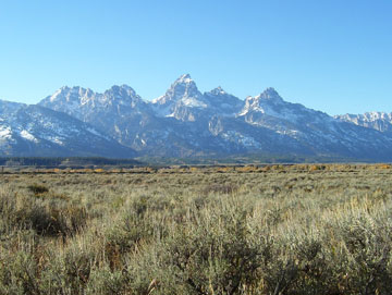 Beginning of the Teton Range