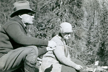 John D. Rockefeller, Jr. tours Grand Teton National Park for the first time.