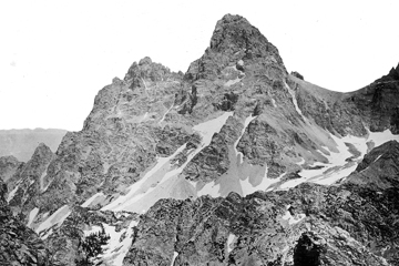 First ascent of the Grand Teton by members of the Hayden expedition.
