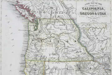 Map of Western US.
