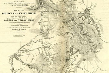 Hayden Survey Map