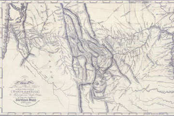 Lewis and Clark map showing John Colter's route.