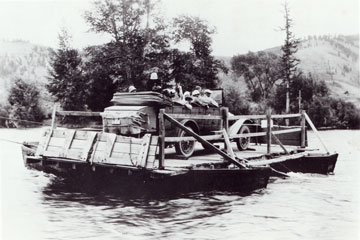 William Menor established a homestead on the Snake River and built Menor's Ferry.