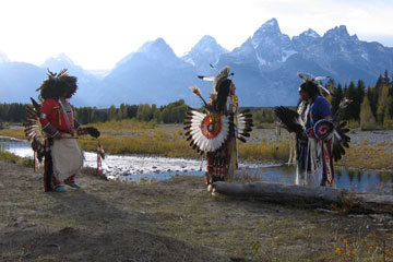 American Indian tribes use resources in Jackson Hole.