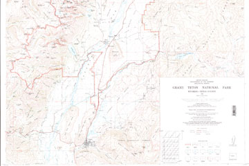 Map of Grand Teton National Park.